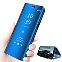 abordables Etuis / Couvertures pour Huawei-Coque Pour Huawei P20 lite P20 Avec Support Miroir Clapet Mise en veille automatique Coque Intégrale Couleur Pleine Dur faux cuir pour