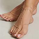 hesapli Ayak bileziği-Barefoot Sandalet - Vintage Altın Uyumluluk Günlük Tatil Kadın's