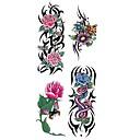 abordables Maquillage & Soin des Ongles-1 pcs Tatouages Autocollants Tatouages temporaires Séries de fleur Imperméable Arts du Corps Caisse / bras / épaule