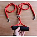 Недорогие Товары для ухода за собаками-Собаки Коты Поводки Компактность Дышащий Складной Однотонный Нейлон Черный Красный Синий