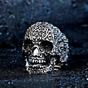 ieftine Cercei-Bărbați Gravat Mexican Sugar Craniu Inel de declarație Oțel titan Punk Modă Schelet Inele la Modă Bijuterii Argintiu Pentru Party / Seara Zilnic Casual Carnaval Costume Cosplay 7 / 8 / 9 / 10 / 11