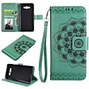 cheap Galaxy J Series Cases / Covers-Case For Samsung Galaxy J7 (2017) J7(2016) Card Holder Wallet Flip Embossed Full Body Cases Flower Hard PU Leather for J7 (2017) J7