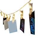 preiswerte DVI-1.5 Leuchtgirlanden 10 LEDs Warmes Weiß / RGB Dekorativ AA-Batterien angetrieben 1pc