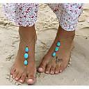 hesapli Vücut Takıları-Turkuaz Barefoot Sandalet - Damla Vintage, Bohem, Bikini Altın Uyumluluk Tatil / Bikini / Kadın's
