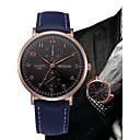 baratos Acessórios para Relógios-Homens Quartzo Relógio de Pulso Chinês Cronógrafo / Relógio Casual Couro Banda Minimalista / Rígida Preta / Azul / Marrom