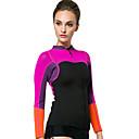hesapli Seleler ve Yolcu Seleleri-SBART Kadın's Dalış Elbisesi Ceketi 2mm Neoprene Üstler Sıcak Tutma Uzun Kollu Dalış / Şnorkelcilik