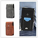 cheap Galaxy S Series Cases / Covers-Case For Samsung Galaxy S9 S9 Plus Card Holder Pouch Bag Solid Colored Hard Genuine Leather for S9 Plus S9 S8 Plus S8 S8 Edge S7 Active