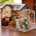 cheap Pretend Play-Dollhouse Creative Exquisite Christmas Mini House Romantic 1 pcs Pieces All Girls' Toy Gift