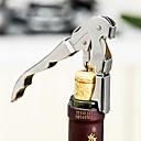 preiswerte Backzubehör & Geräte-Edelstahl Korkenzieher Doppel klappbar Kellner Wein Flaschenöffner Hebel Werkzeug