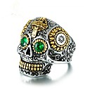 cheap Rings-Cubic Zirconia Geometric Band Ring - Skull Vintage 8 / 9 / 10 Green For Party / Gift