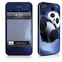 hesapli iPhone Stickerları-1 parça Deri Etiket için Çizilmeye Dayanıklı Hayvan Tema PVC iPhone 4/4s