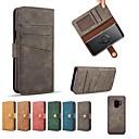 billige Etuier / covers til Galaxy S-modellerne-Etui Til Samsung Galaxy S9 Plus / S9 Pung / Kortholder / Flip Fuldt etui Ensfarvet Hårdt PU Læder for S9 / S9 Plus / S8 Plus