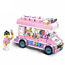 رخيصةأون ساعات الرجال-أحجار البناء مجموعة ألعاب البناء ألعاب تربوية 213 pcs سيارة أيس كريم متوافق Legoing مع إطلالة على المدينة للصبيان للفتيات ألعاب هدية