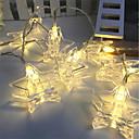 hesapli LED Şerit Işıklar-3M Dizili Işıklar 20 LED'ler Sıcak Beyaz / RGB Dekorotif Piller Powered 1pc