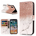 cheap iPhone Cases-Case For Apple iPhone X / iPhone 8 Plus Wallet / Card Holder / with Stand Full Body Cases Marble Hard PU Leather for iPhone X / iPhone 8 Plus / iPhone 8