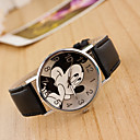 cheap Women's Watches-Women's Wrist Watch Chinese Casual Watch / Lovely Leather Band Cartoon / Fashion Black / White / Blue