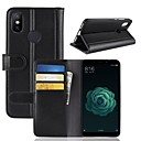 cheap Barware & Openers-Case For Xiaomi Xiaomi Mi 6X Wallet / Card Holder / with Stand Full Body Cases Solid Colored Hard Genuine Leather for Xiaomi Mi 6X(Mi A2)