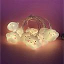 hesapli LED Şerit Işıklar-3M Dizili Işıklar 20 LED'ler Sıcak Beyaz Dekorotif 220-240 V 1pc