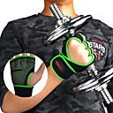رخيصةأون الستائر-قفازات التمرين إلى لياقة بدنية / الجمنازيوم نصف أصبع / مجوف / متنفس ليكرا زوج واحد فوشيا / أحمر / أخضر
