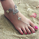 hesapli Ofis Malzemeleri-Kalın Zincir Barefoot Sandalet - Avrupa, Bikini Gümüş Uyumluluk Günlük Bikini Kadın's