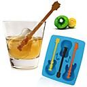 preiswerte Tee-Zubehör-Gitarre geformt Eis Schimmel Silikon Eiswürfel Fach Pudding-Gelee-Schimmel