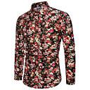 voordelige Hondenkleding & -accessoires-hemd voor heren - kraag met bloemenkleurblokken