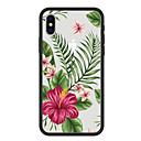 저렴한 아이폰 케이스-케이스 제품 Apple iPhone X / iPhone 8 Plus 패턴 뒷면 커버 식물 / 카툰 / 꽃장식 하드 아크릴 용 iPhone X / iPhone 8 Plus / iPhone 8