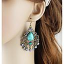 preiswerte Ohrringe-Damen Lang Tropfen-Ohrringe - Birne Grundlegend, Modisch Grün / Blau Für Alltag Verabredung