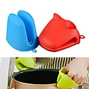 cheap Baking Tools & Gadgets-Hippo Frog Shape Silicone Insulated Gloves Oven Mitt Heat Resistant