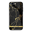 cheap iPhone Cases-Case For Apple iPhone X / iPhone 8 Plus Mirror / Pattern Back Cover Word / Phrase / Marble Hard Tempered Glass for iPhone X / iPhone 8 Plus / iPhone 8