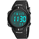 cheap Men's Watches-SYNOKE Men's Sport Watch Digital Watch Digital 50 m Water Resistant / Water Proof Calendar / date / day Chronograph PU Band Digital Fashion Black / Blue - Gray Green Blue / Stopwatch / Noctilucent