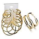preiswerte Ohrringe-Damen 3D Ohrstecker Kreolen - Modisch, Hyperbel Gold Für Geschenk Alltag / 6 Paare