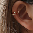 olcso Divat nyaklánc-Női Klipszes fülbevalók Fül Mandzsetta Helix fülbevaló Crossover Szöveg Olcsó hölgyek Egyszerű Egyedi aranyos stílus Small Fülbevaló Ékszerek Arany / Fekete / Ezüst Kompatibilitás Napi Éjszakát és