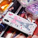 Недорогие Кейсы для iPhone-Кейс для Назначение Apple iPhone X / iPhone 8 Plus Защита от удара / Движущаяся жидкость / Прозрачный Кейс на заднюю панель Эйфелева башня Мягкий ТПУ для iPhone X / iPhone 8 Pluss / iPhone 8