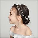 رخيصةأون أمشاط الشعر-نسائي بسيط الزفاف رضيع قماش سبيكة كريستال رباطات شعر زفاف مناسب للحفلات - ورد