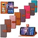 hesapli Küpeler-Pouzdro Uyumluluk Nokia Nokia 7 Plus / Nokia 6 2018 Cüzdan / Kart Tutucu / Satandlı Tam Kaplama Kılıf Kuyruk Sert PU Deri için Nokia 7 Plus / Nokia 6 2018