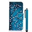 رخيصةأون أساور-غطاء من أجل Samsung Galaxy A6 (2018) / A6+ (2018) / A5 (2017) محفظة / حامل البطاقات / مع حامل غطاء كامل للجسم زهور قاسي جلد PU