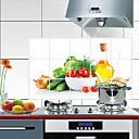 رخيصةأون ترتيب الجدران و المطبخ-مطبخ معدات تنظيف PVC ملصقات مقاومة للزيت مقاومة علاج الوصمة / ضد الماء 1PC