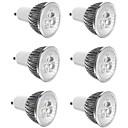 お買い得  LED スポットライト-3 W LEDスポットライト 300 lm E14 GU10 GU5.3 3 LEDビーズ ハイパワーLED 装飾用 温白色 クールホワイト 85-265 V, 6本 / RoHs