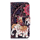 cheap Galaxy J Series Cases / Covers-Case For Samsung Galaxy J6 / J4 Wallet / Card Holder / with Stand Full Body Cases Elephant Hard PU Leather for J7 (2017) / J6 / J5 (2017)