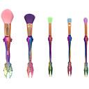 hesapli Makyaj ve Tırnak Bakımı-5'lik Paket Makyaj fırçaları Profesyonel Fırça Setleri Naylon fiber Çevre-dostu / Yumuşak Plastik