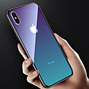 cheap iPhone Cases-Case For Apple iPhone X / iPhone 8 Translucent Back Cover Color Gradient Hard Tempered Glass for iPhone X / iPhone 8 Plus / iPhone 8