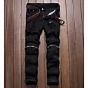 رخيصةأون صيني-رجالي بانغك & قوطي مناسب للبس اليومي تشينوز بنطلون - هندسي أسود أحمر البيج 36 38 42