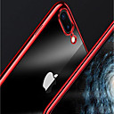 cheap iPhone Cases-Case For Apple iPhone X / iPhone 8 Plus / iPhone 8 Plating / Transparent Back Cover Solid Colored Soft TPU