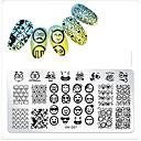 Недорогие Чехлы и кейсы для Galaxy S6-1 pcs шаблон Классика / Креатив маникюр Маникюр педикюр Узор / На каждый день На каждый день