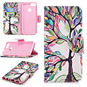 cheap Samsung Tab Series Cases / Covers-Case For Huawei Huawei P smart Wallet / Card Holder / with Stand Full Body Cases Tree Hard PU Leather for Huawei P smart