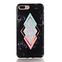baratos Cool & Fashion Cases para iPhone-Capinha Para Apple iPhone X / iPhone 7 Plus Estampada Capa traseira Mármore Macia TPU para iPhone X / iPhone 8 Plus / iPhone 8
