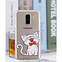 hesapli Galaxy A Serisi Kılıfları / Kapaklar-Pouzdro Uyumluluk Samsung Galaxy A6+ (2018) / A6 (2018) Şeffaf / Temalı Arka Kapak Kedi Yumuşak TPU için A6 (2018) / A6+ (2018) / A3 (2017)