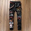 ieftine Becuri LED Corn-Bărbați Șic Stradă Ieșire Zvelt Pantaloni Chinos Pantaloni - Geometric Imprimeu Primăvară Toamnă Negru 34 36 38