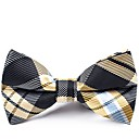 cheap Men's Bow Ties-Men's Party / Basic Bow Tie - Color Block / Plaid / Patchwork Bow